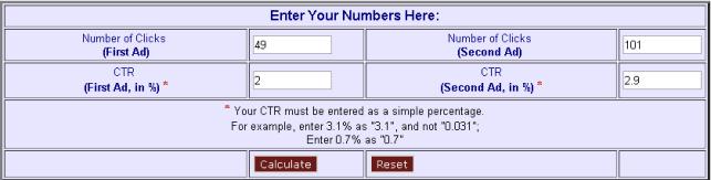 Калькулятор для сравнения объявлений