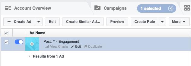 Редактируй рекламные кампании в Facebook Ads Manager