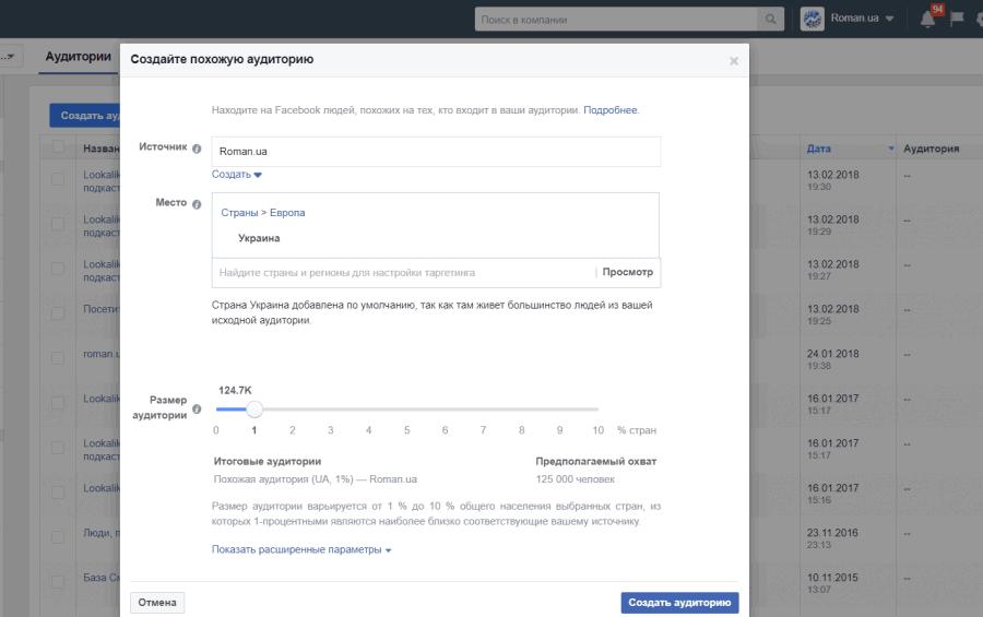 Таргетинг и настройка аудитории в Facebook Ads