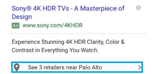 Расширение объявления партнерские адреса Google Ads