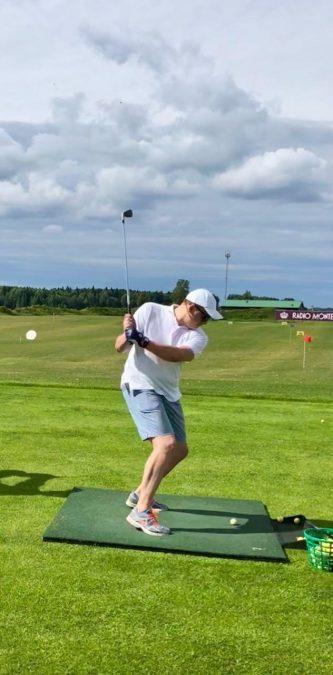 Илья Скрябин, CEO @ Connective PLM на гольфе